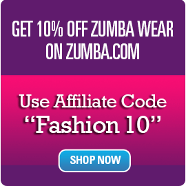 get 10% off zumba.com wear with our affiliate program